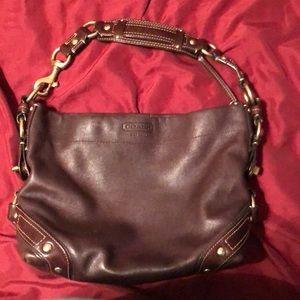 Coach dark brown handbag